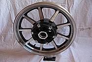 2005 1700cc Yamaha Roadstar Aluminum Wheel BEFORE Chrome-Like Metal Polishing and Buffing Services