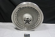 Aluminum Motorcycle Wheel BEFORE Chrome-Like Metal Polishing and Buffing Services / Restoration Service