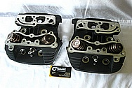 Motorcycle Aluminum Cylinder Heads BEFORE Chrome-Like Metal Polishing and Buffing Services / Restoration Service