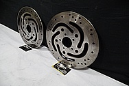 Harley Davidson Motorcycle Steel Brake Rotors BEFORE Chrome-Like Metal Polishing and Buffing Services / Restoration Service