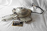 Ducati Motorcycle Engine Cover Piece BEFORE Chrome-Like Metal Polishing and Buffing Services / Restoration Services