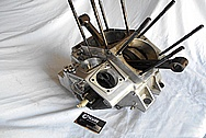 Aluminum Motorcycle Engine Case BEFORE Chrome-Like Metal Polishing and Buffing Services / Restoration Services