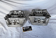 Patrick Billet Aluminum Motorcycle Engine Cylinder Heads BEFORE Chrome-Like Metal Polishing and Buffing Services / Restoration Services