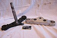 2005 1700cc Yamaha Roadstar Aluminum Triple Tree BEFORE Chrome-Like Metal Polishing and Buffing Services