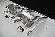 Aluminum Motorcycle Swing Arms BEFORE Chrome-Like Metal Polishing and Buffing Services / Restoration Services