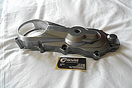 Aluminum Motorcycle Engine Cover Piece BEFORE Chrome-Like Metal Polishing and Buffing Services / Restoration Services