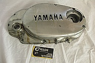 Yamaha Aluminum Motorcycle Engine Cover BEFORE Chrome-Like Metal Polishing and Buffing Services