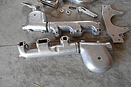 Aluminum Motorcycle Peices BEFORE Chrome-Like Metal Polishing and Buffing Services / Restoration Services