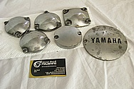Yamaha Aluminum Motorcycle Engine Covers BEFORE Chrome-Like Metal Polishing and Buffing Services