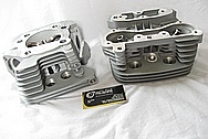 Harley Davidson Evolution Aluminum Motorcycle Engine Heads BEFORE Chrome-Like Metal Polishing and Buffing Services