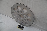 Aluminum Motorcycle Sprocket BEFORE Chrome-Like Metal Polishing and Buffing Services / Restoration Services