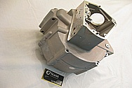 Harley Davidson Evolution Aluminum Motorcycle Engine Block BEFORE Chrome-Like Metal Polishing and Buffing Services