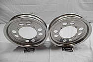 Aluminum Wheels BEFORE Chrome-Like Metal Polishing and Buffing Services / Restoration Services