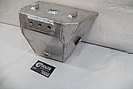 Aluminum Gas Tank BEFORE Chrome-Like Metal Polishing and Buffing Services / Restoration Services