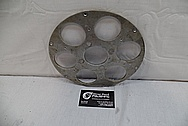 Aluminum Motorcycle Brake Rotor BEFORE Chrome-Like Metal Polishing and Buffing Services / Restoration Services