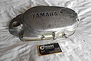 Yamaha Aluminum Engine Cover BEFORE Chrome-Like Metal Polishing and Buffing Services / Restoration Services
