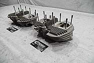 1967 Harley Davidson Aluminum Cylinder Heads BEFORE Chrome-Like Metal Polishing and Buffing Services / Restoration Services