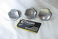 Vincent Black Shadow Aluminum Motorcycle Caps BEFORE Chrome-Like Metal Polishing and Buffing Services