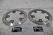 2014 Harley Davidson Street Glide Brake Rotors BEFORE Chrome-Like Metal Polishing and Buffing Services / Restoration Services