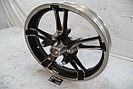 2014 Harley Davidson Street Glide Motorcycle Front Wheel BEFORE Chrome-Like Metal Polishing and Buffing Services / Restoration Services