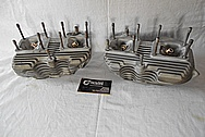 Harley Davidson Aluminum Cylinder Heads BEFORE Chrome-Like Metal Polishing and Buffing Services / Restoration Services