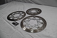Suzuki VZR1800 M109r Steel Rotors BEFORE Chrome-Like Metal Polishing and Buffing Services / Restoration Services
