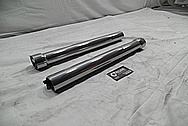 2008 Ducatti 1100 Monster Aluminum Front Forks BEFORE Chrome-Like Metal Polishing and Buffing Services / Restoration Services