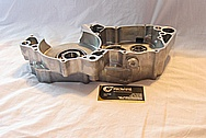 Honda CR500R Motorcross Motorcycle Dirt Bike Aluminum Engine Case BEFORE Chrome-Like Metal Polishing and Buffing Services