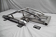 2005 Suzuki Hayabusa Aluminum Motorcycle Swingarm BEFORE Chrome-Like Metal Polishing and Buffing Services / Restoration Services