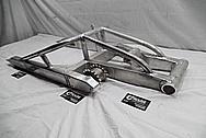 2005 Suzuki Hayabusa Aluminum Motorcycle Swingarm BEFORE Chrome-Like Metal Polishing and Buffing Services / Restoration Services