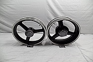 Aluminum Motorcycle Wheel Lips BEFORE Chrome-Like Metal Polishing and Buffing Services / Restoration Services