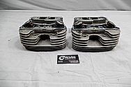 Harley Davidson Aluminum Cylinder Heads BEFORE Chrome-Like Metal Polishing / Restoration