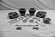 Harley Davidson Aluminum Parts Project BEFORE Chrome-Like Metal Polishing / Restoration