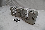 1978 Harley Davidson Lowrider Aluminum Rocker Boxes BEFORE Chrome-Like Metal Polishing