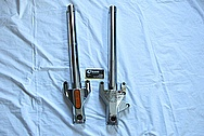 Aluminum Motorcycle Front Fork BEFORE Chrome-Like Metal Polishing and Buffing Services