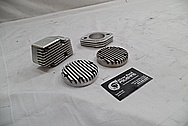 1978 Harley Davidson Lowrider Aluminum Engine Pieces BEFORE Chrome-Like Metal Polishing - Aluminum Polishing