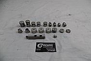 1978 Harley Davidson Lowrider Aluminum Engine Pieces BEFORE Chrome-Like Metal Polishing - Aluminum Polishing