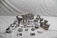1978 Harley Davidson Lowrider Aluminum Engine Motorcycle Engine Pieces BEFORE Chrome-Like Metal Polishing - Aluminum Polishing