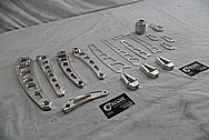Aluminum Vance & Hines Motorcycle Parts BEFORE Chrome-Like Metal Polishing and Buffing Services - Aluminum Polishing - Manufacture Polishing