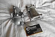 Vintage Aluminum Motorcycle Carburetor and Aluminum Intake BEFORE Chrome-Like Metal Polishing - Aluminum Polishing Service