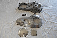 Aluminum Motorcycle Parts BEFORE Chrome-Like Metal Polishing - Aluminum Polishing Services