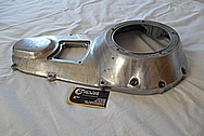 Motorcycle Aluminum Engine Cover Piece BEFORE Chrome-Like Metal Polishing - Aluminum Polishing Services