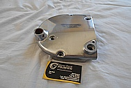 Harley Davidson Motorcycle Aluminum Cam Cover and Gear Cover / Sprocket Cover BEFORE Chrome-Like Metal Polishing - Aluminum Polishing Services