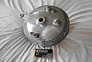 Aluminum Motorcycle Front and Rear Brake Hubs BEFORE Chrome-Like Metal Polishing - Aluminum Polishing Services