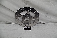 Steel Motorcycle Brake Rotor BEFORE Chrome-Like Metal Polishing - Steel Polishing Services