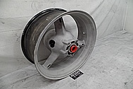 2004 Suzuki GSXR-1000 Aluminum Motorcycle Rear Wheel BEFORE Chrome-Like Metal Polishing - Aluminum Polishing Services