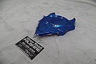 Aluminum Motorcycle Cover Piece / Emblem BEFORE Chrome-Like Metal Polishing - Aluminum Polishing Services