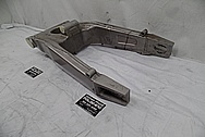 Aluminum Motorcycle Swingarm BEFORE Chrome-Like Metal Polishing - Aluminum Polishing Services
