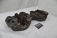 1969 Harley Davidson Pan Shovelhead Limited Edition Motorcycle Aluminum Cylinder Heads BEFORE Chrome-Like Metal Polishing - Aluminum Polishing Services