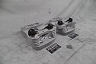 Harley Davidson S&S Aluminum Cylinder Heads BEFORE Chrome-Like Metal Polishing - Aluminum Polishing Services